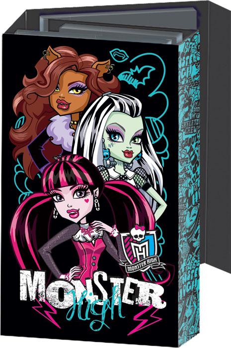 Блокнот Monster High, с раскладывающейся обложкой. MHBA-US1-OGB72523WDОригинальный блокнот Monster High в твердой обложке с магнитным клапаном прекрасное место для памятных записей, любимых стихов и многого другого. Внутри - три разных блокнота: записная книга, телефонно-адресная книга, ежедневник, два из которых на пружине. Каждый блокнот содержит по 36 листов. Такой блокнот вызовет улыбку у каждого, кто его увидит, а также послужит оригинальным и практичным подарком.
