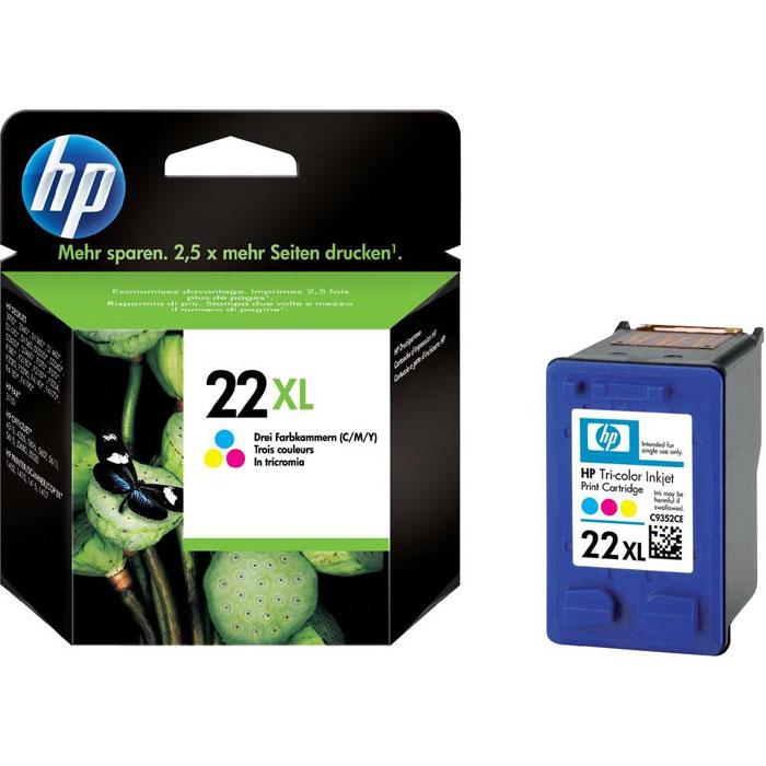 HP C9352CE (22 XL) трехцветный струйный картриджC13T09634010Струйные трехцветные картриджи HP 22XL предназначены для крупнотиражной печати при меньшем количестве