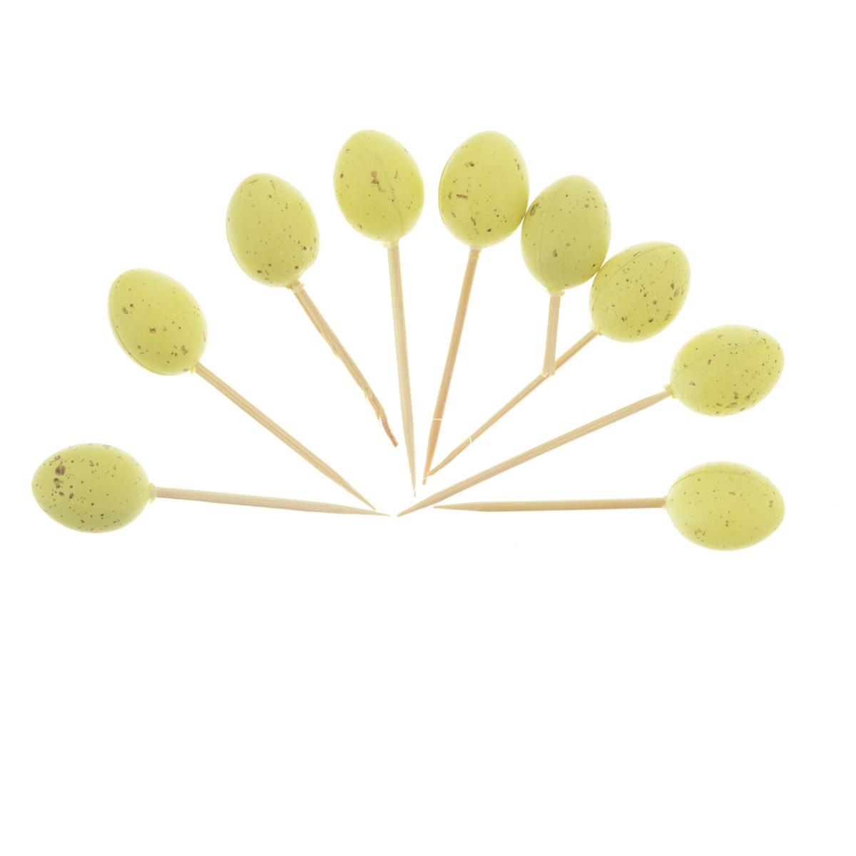 Набор декоративных украшений Home Queen Пасхальные яйца для кулича, цвет: фисташковый, 9 штNLED-405-0.5W-MНабор Home Queen Пасхальные яйца, изготовленный из пластика и дерева,состоит из 9 декоративных украшений, предназначенных для оформленияпасхального кулича. Изделия декорированы фигурками пасхальных яиц. Такойнабор прекрасно дополнит оформление праздничного стола на Пасху.Размер фигурки: 1,7 см х 1,7 см х 2,3 см.