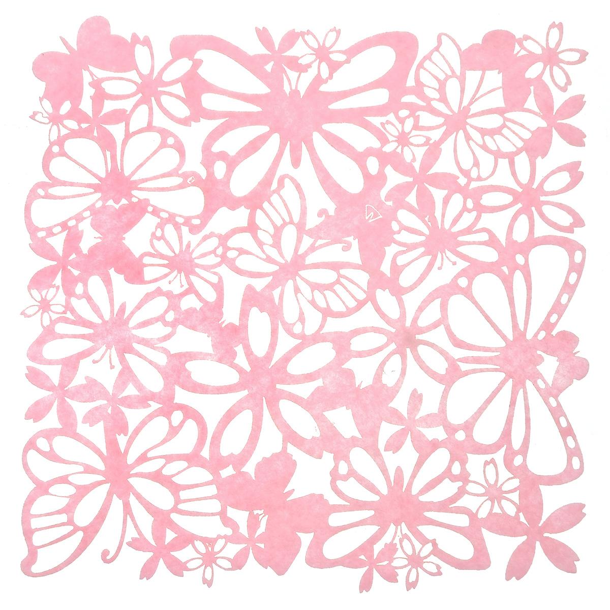 Салфетка Home Queen Взмах крыльев, цвет: розовый, 30 см х 30 смVT-1520(SR)Квадратная салфетка Home Queen Взмах крыльев изготовлена из фетра иоформлена изысканной перфорацией в виде цветочных узоров и бабочек. Такаясалфетка прекрасно подойдет для украшения интерьера кухни, она сбережет стол отвысоких температур и грязи.