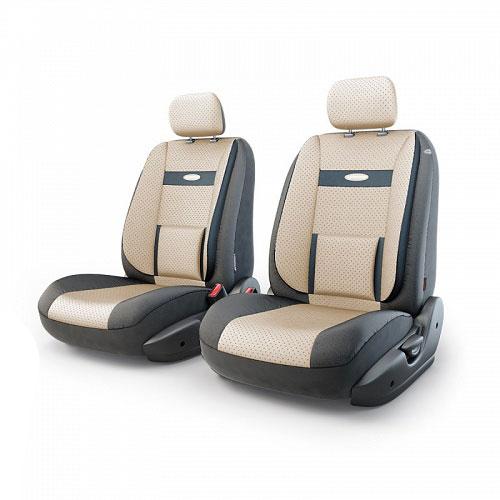 Авточехлы Autoprofi Трансформер Comfort, экокожа, цвет: черный, бежевый, 6 предметовSC-FD421005Чехлы Autoprofi Трансформер Comfort - новая модель автомобильных чехлов. Главной особенностью их стала модульная конструкция, благодаря которой можно укомплектовать 5-, 7- или 8-местный автомобиль. Запатентованная конструкция чехлов с молниями и торцевыми клапанами позволит их адаптировать в автомобилях с любым кузовом - седана, минивена, кроссовера, внедорожника или универсала. Приэтом специальные клапаны закрывают торцы спинок и подлокотников, позволяя их складывать иобеспечивая плотное прилегание даже на нестандартных креслах. Немаловажно, что данная серия чехлов на автомобильное сиденье оснащена распускаемым боковым швом, что позволяет их использовать в автомобилях с боковой подушкой безопасности. Спинка и боковые части автомобильного чехла сделаны из экокожи. Из прежних наработок, полюбившихся автомобилистам, в данных чехлах сохранилось крепление крючками и липучками, которые прочно фиксируют чехлы на сиденье. Чехлы для переднего ряда серии Трансформер сочетаются со всеми чехлами заднего ряда этой серии. Комплектация: 2 подголовника, 2 спинки переднего ряда, 2 сиденья переднего ряда. Особенности:Толщина поролона: 5 мм. Карманы в спинках передних сидений. Предустановленные крючки на широких резинках. Крепление передних спинок липучками. Использование с боковыми airbag. Поясничный упор. Боковая поддержка спины.
