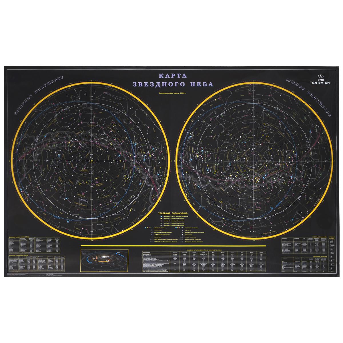 Звездное небо. Карта