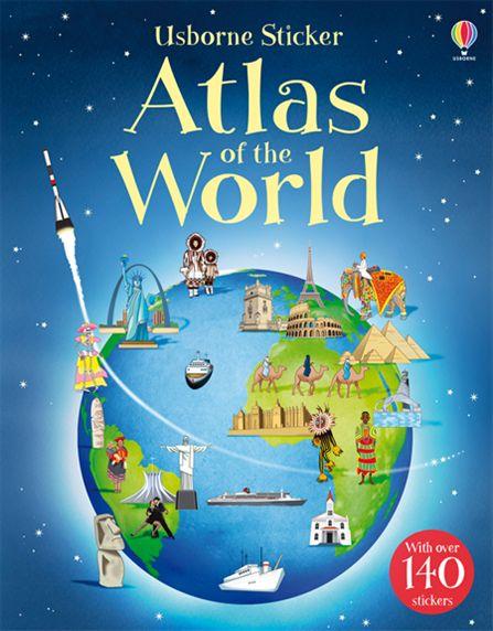 Fiona Patchett and Alice Pearcey. Sticker Atlas of the World (+ 140 стикеров)