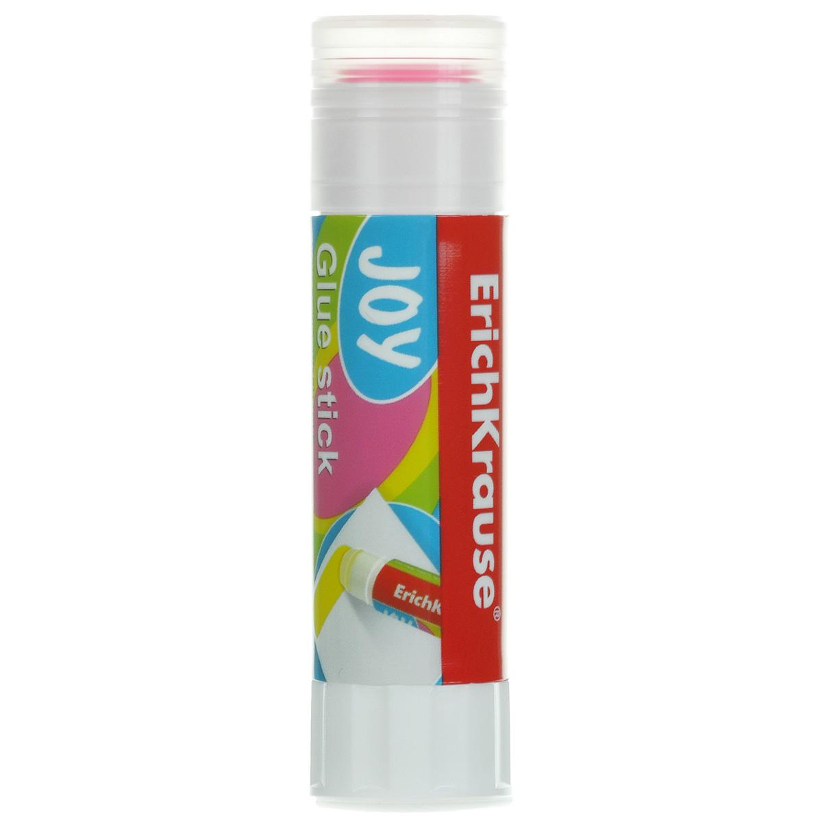 Клей-карандаш Erich Krause Joy, цвет: розовый, 15 гFS-00103Цветной клей-карандаш Erich Krause Joy идеально подходит для склеивания бумаги, картона и фотографий. Выкручивающийся механизм обеспечивает постепенное выдвижение клеевого стержня из пластикового корпуса. При нанесении оставляет цветной след, обеспечивающий более аккуратное наклеивание. Клей-карандаш не деформирует бумагу, быстро сохнет и не оставляет следов после высыхания. Не токсичен. Рекомендовано детям старше трех лет.