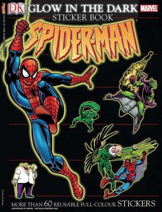 Ultimate Sticker Book: Glow-in-the-Dark: Spider-Man