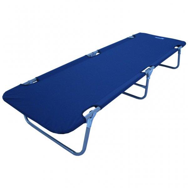 Кровать походная Helios, цвет: синий, 190 см х 61 см х 30 смМ5102Классическая складная кровать Helios пригодится для отдыха на природе, даче или будет комфортным спальным местом в случае неожиданного приезда гостей. Выполнена из прочного полиэстера 600D. Каркас изготовлен из стальной трубы с порошковым покрытием. Компактно складывается и занимает мало места.