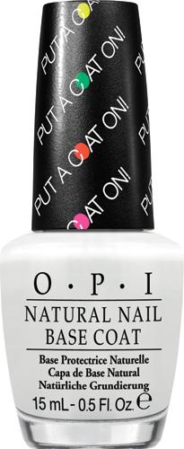 OPIБазовое покрытие для ярких оттенков лака «OPI Natural Nail Base Coat- Put a Coat On!», 15 мл1301207Специальное базовое покрытие для усиления неонового эффекта и насыщенности других ярких оттенков лака. Это базовое покрытие заряжает яркие оттенки лака дополнительной энергией!