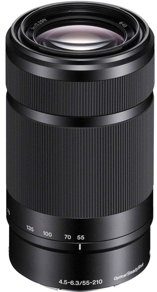 Sony 55-210 mm F/4.5-6.3, Black объектив для NexF013NМодель Sony 55-210 mm позволяет снимать на большом расстоянии такие объекты, как спортивные соревнования иприрода. Встроенный стабилизатор изображения уменьшает размытие при съемки на большом расстоянии илипри слабом освещении.Стабилизатор изображения Optical SteadyShot, встроенный в объектив, позволяет создавать плавные,несмазанные фотографии и видеозаписи при съемке с рук.Вместо стандартной диафрагмы объектива в форме многоугольника, этот объектив имеет 7-лепестковую круглуюдиафрагму для более естественной, скругленной дефокусировки или эффекта боке.Асферические элементы объектива сводят искажения к минимуму, а линзы из стекла со сверхнизкой дисперсиейповышают контрастность, разрешение и четкость цветов.Благодаря механизму внутренней фокусировки корпус объектива не движется, что делает конструкцию болеекомпактной, отклик автофокуса - более быстрым, а также сокращает минимальную дистанцию фокусировки.
