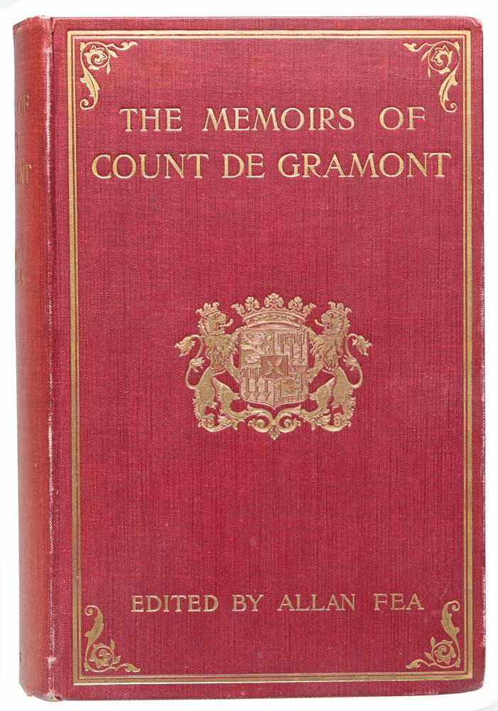 The Memoirs of Count de Gramont620_желтый, синийЛондон, 1906 год. Издание Bickers and Son. Иллюстрированное издание. Типографский переплет с золотым тиснением. Золоченый верхний обрез. Сохранность хорошая. Антуан Гамильтон (1646 - 1720) - англо-французский писатель. Главное произведение Гамильтона - «Memoires du comte de Grammont» - «Мемуары графа Грамона» (Филибер де Грамон (1621-1707) - зять Гамильтона, участник Фронды, изгнанный Людовиком XIV и известный своими похождениями при дворе), написанное в 1704 году, изданное в 1713 году - классический образец французской прозы XVII века. В нем Гамильтон дал, наряду со скандальной хроникой двора и аристократии, прекрасные портреты крупных исторических фигур: Кромвеля, Людовика XIV и др. Издание на английском языке. Не подлежит вывозу за пределы Российской Федерации.