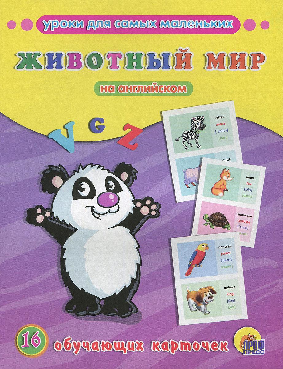 Животный мир на английском (набор из 16 обучающих карточек)