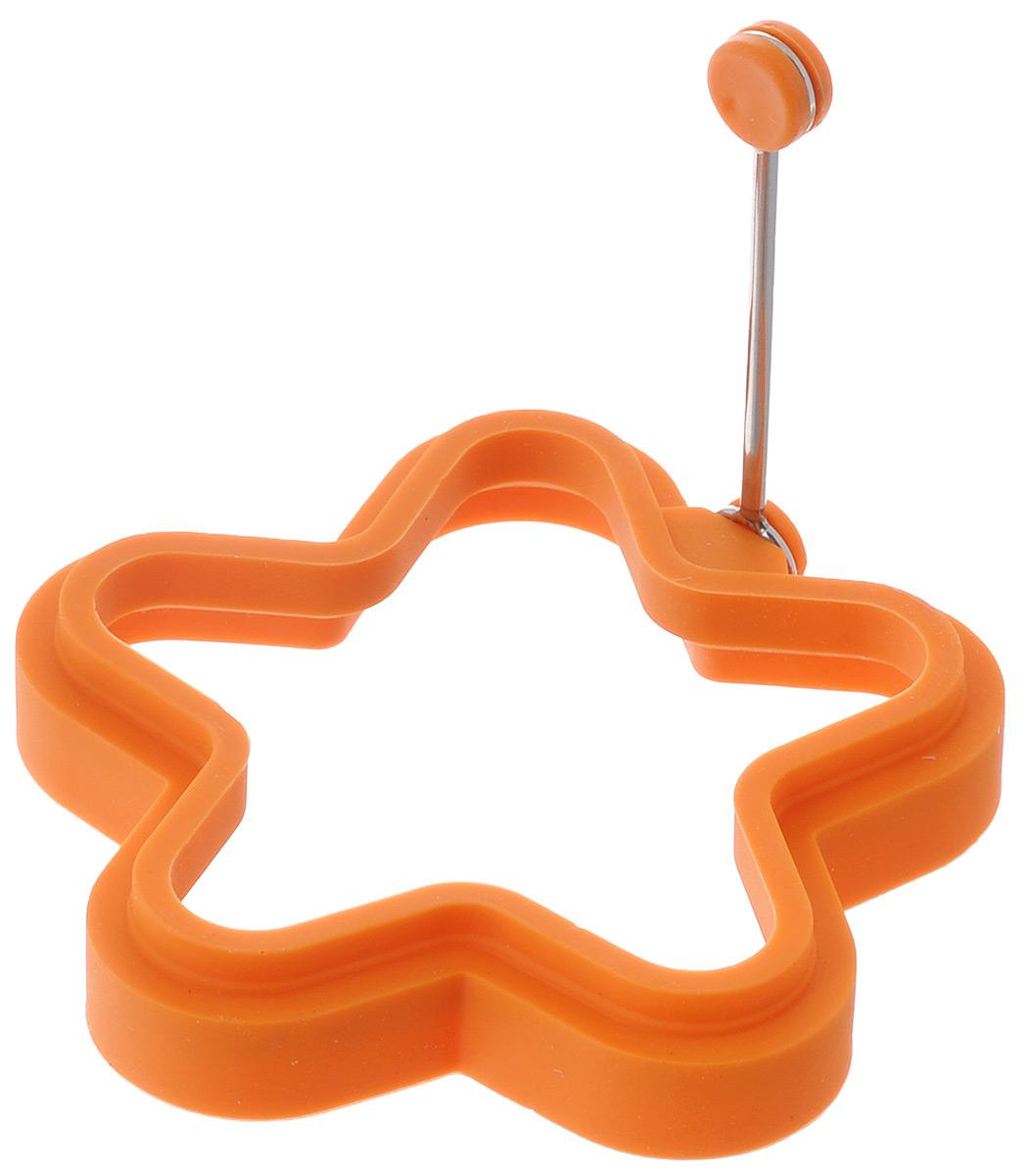 Форма для яичницы Mayer & Boch Звезда, цвет: оранжевый94672Форма Mayer & Boch Звезда изготовлена из силикона. Она предназначенадля приготовления яичницы, выпекания блинов необычной формы и других блюд.Необходимо просто залить приготавливаемую массу внутрь формочки,расположенной на сковородке,и подождать, пока блюдо не дойдет до нужной кондиции. Благодаря такой формочке,вы привнесете немного оригинальности и разнообразия в свой повседневныйзавтрак.Можно мыть в посудомоечной машине.Размер: 11,5 см х 11,5 см х 2,2 см.
