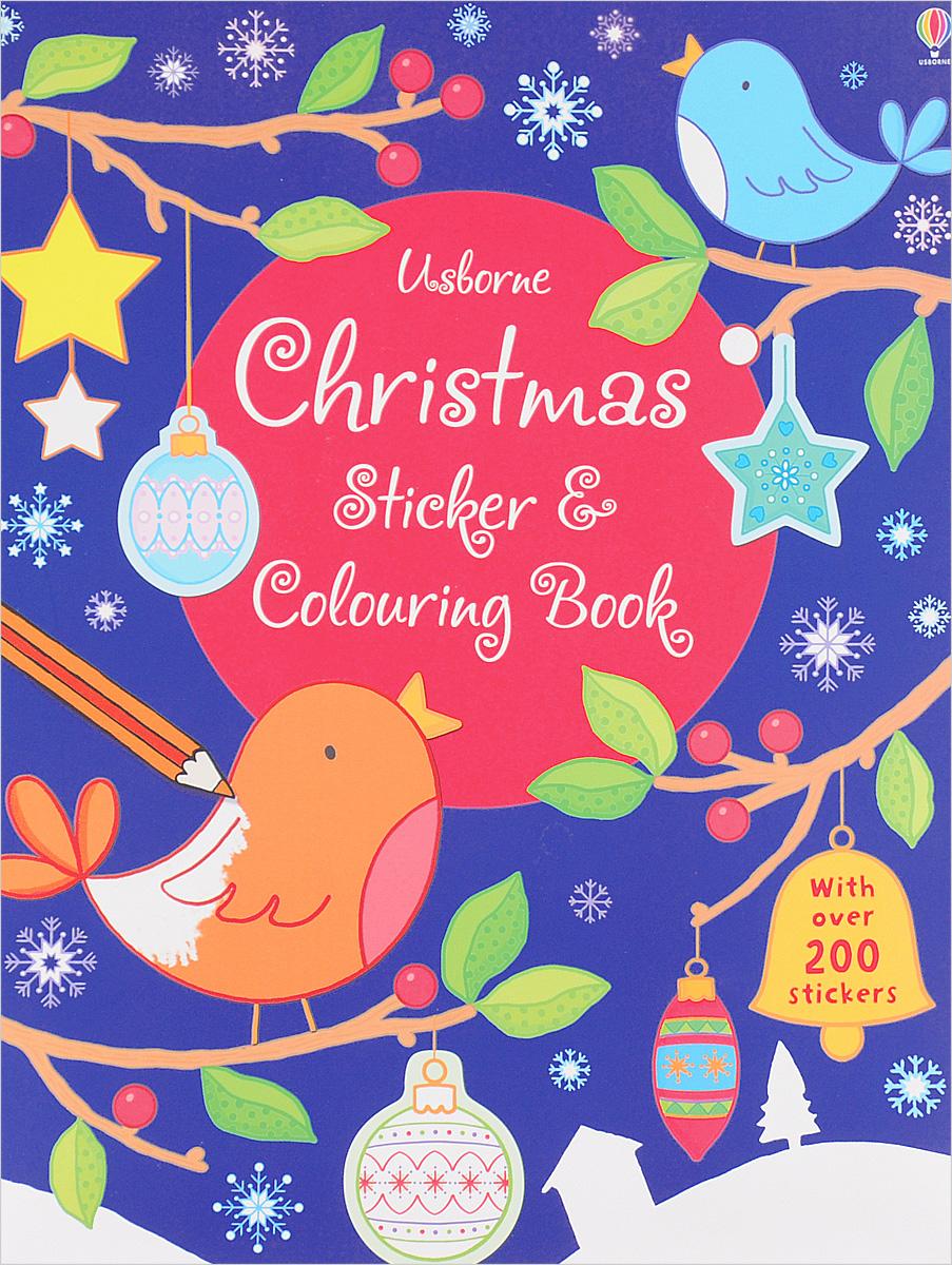 Christmas Sticker & Colouring Book (+ наклейки)