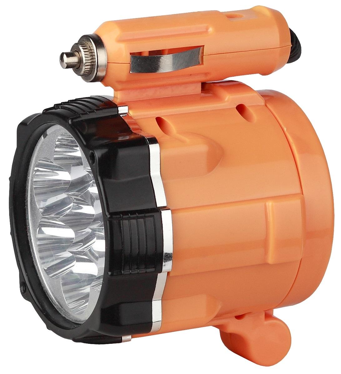 Фонарь ручной Эра A3M, цвет: оранжевый, черныйKOCAc6009LEDАвтомобильный осветительный прибор-переноска Эра A3M с семью яркими светодиодными лампами белого цвета LED.Изделие работает от сети автомобиля 12 Вольт.Для более удобного использования фонарь укомплектован трехметровым шнуром питания.Наличие магнита позволяет фиксировать прибор под различными углами.
