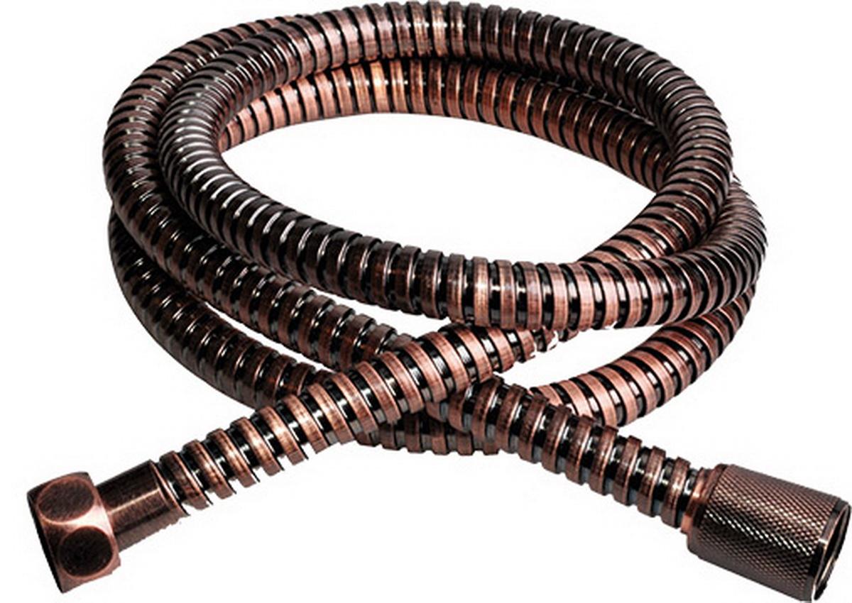 Шланг для душа Argo Eur, цвет: бронза, 1/2, 150 смBA900Универсальный гибкий шланг для душа Argo Eur с внешней оболочкой из нержавеющей стали, сочетает в себе отличные эксплуатационные характеристики и приятный дизайн. Прочный и надежный шланг эргономичен и прост в монтаже, удобен в использовании. Длина: 150 см.Выходы шлага: 1/2.Тип фитинга: гайка - конус с насечкой. Тип соединения оплетки: двойной замок.