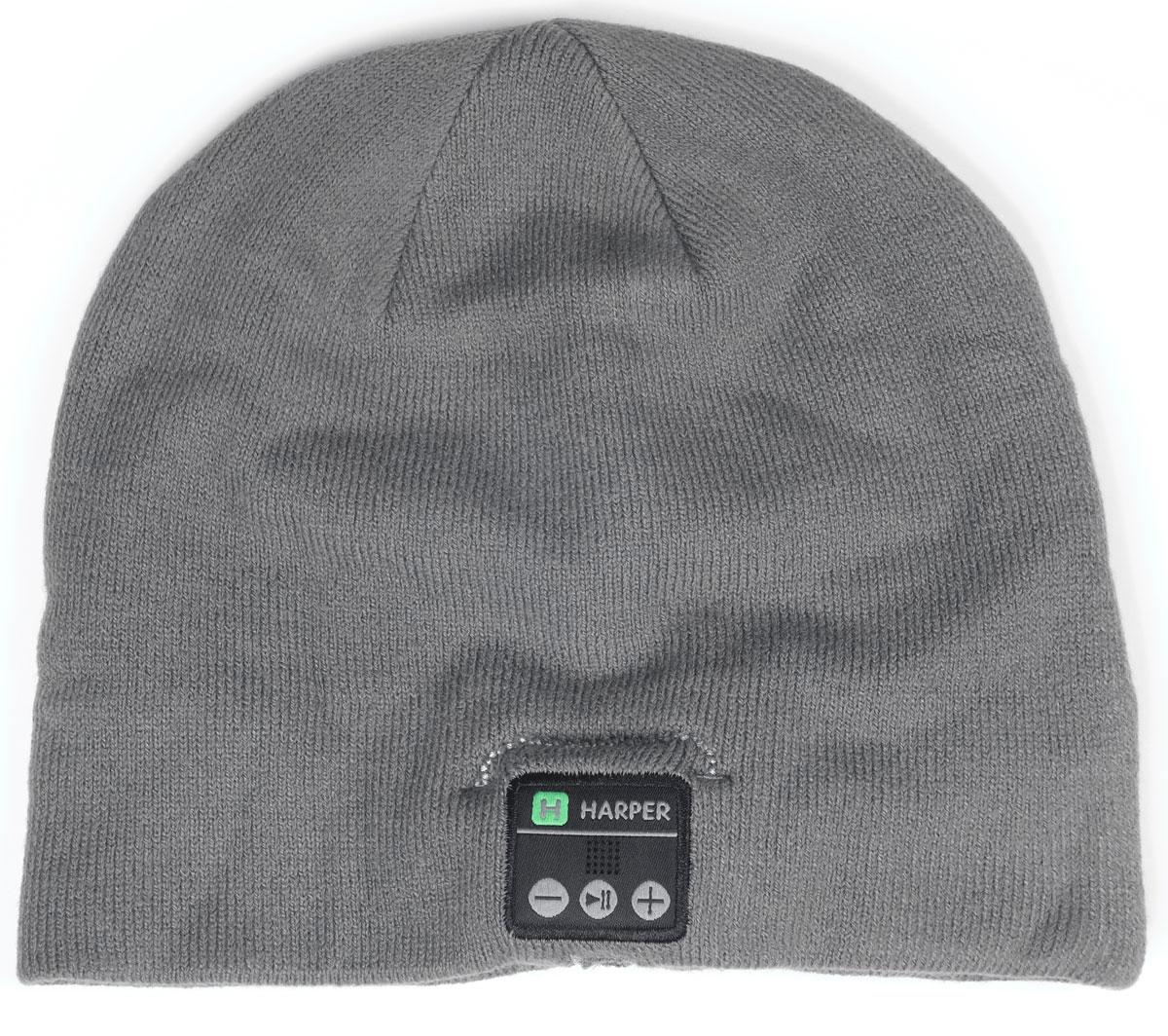 Harper HB-505, Gray шапка с Bluetooth-гарнитуройMDRXB950APH.EШапка Harper HB-505 с Bluetooth-гарнитурой. Идея совмещения гарнитуры и шапки реализована с вниманием к деталям. В головной убор на местах, где находятся уши пользователя, вшиты наушники. В основе используется материал, состоящий из акрила - 84%, спандекса - 10%, полиэстера - 6%. Вязка не раздражает при длительной носке. Внутри подкладки зафиксирован основной модуль и дополнительный динамик. Соединяются они между собой кабелем, скрывающимся во внутреннем стежке. Все активные элементы на правом наушнике.