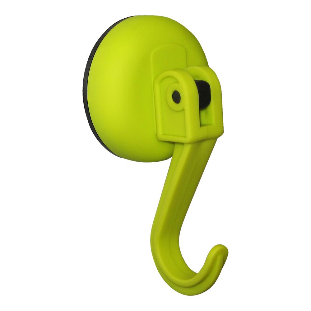 Крючок Tatkraft Kalev Magic Hook, на вакуумной присоске, цвет: зеленый, диаметр 6 см68/5/3Tatkraft KALEV MAGIC HOOK Желтый, Крючок на вакуумной присоске d 60 мм, в блистере. Крепление на гладких нешероховатых поверхностях. Макс. вес до 5 кг.