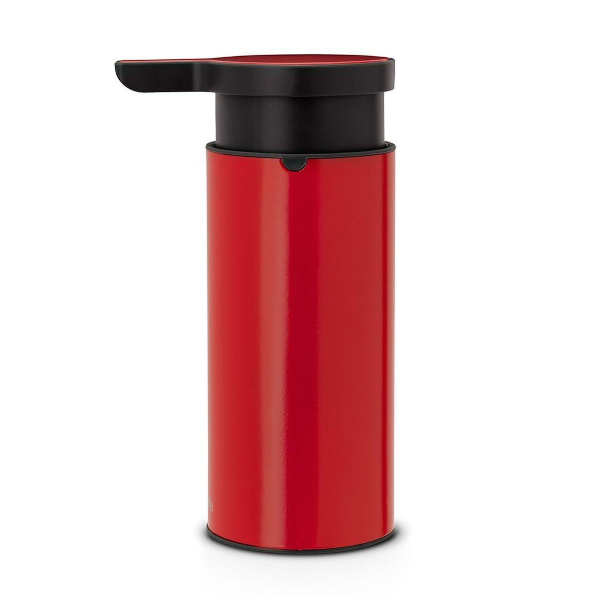 Диспенсер для жидкого мыла Brabantia, цвет: красныйUP210DFСтильный аксессуар из коррозионно-стойких материалов по достоинству оценят те, кого заботят вопросы гигиены, и те, для кого важны индивидуальность стиля и красивый дизайн. Красота и функциональность в одном флаконе! И высочайшее качество сверху донизу. Идеальное решение для помещений с повышенной влажностью; Удобное наполнение сверху – широкое отверстие для заправки; Может использоваться для шампуней, лосьонов и т.п.; Перед заправкой дозатора заполните емкость горячей водой и проведите очистку насосного механизма, несколько раз прокачав дозатор; Легко разбирается для проведения тщательной очистки; Широкое основание с противоскользящими свойствами обеспечивает отличную устойчивость; 10 лет гарантии Brabantia.