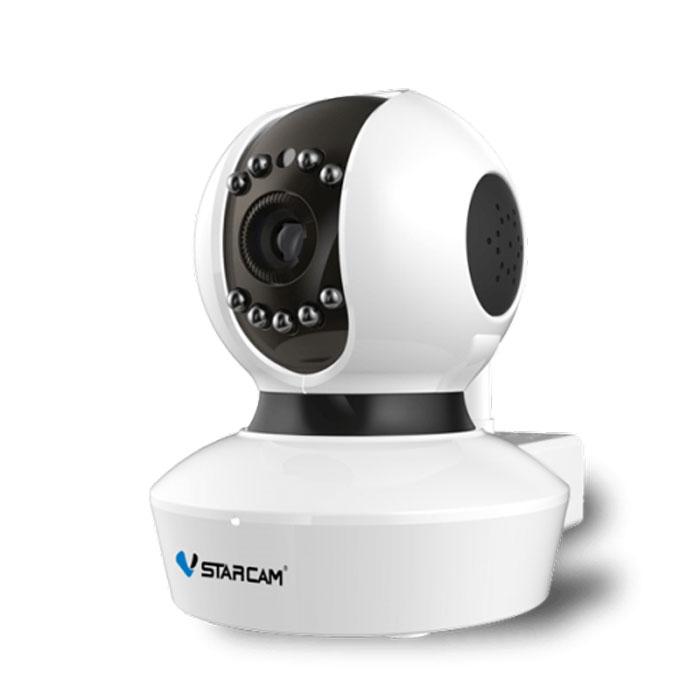 Vstarcam C7838WIP MINI IP камера1600000360013Vstarcam C7838WIP MINI - это бюджетная WiFi камера с HD качеством видео (1280х720 пикселей), поддержкойтехнологии P2P простой настройки WiFi в одно касание (Sonic Transfer Convenient), поворотом по горизонтали ивертикали, ИК подсветкой, поддержкой карт памяти и протоколами Onvif и RTSP. Vstarcam C7838WIP MINI - это идеальное бюджетное решение для наблюдения за ребенком, квартирой, офисом,загородным домом. Вам не нужно делать сложные настройки, подключить камеру можно очень просто, благодарятехнологии P2P и простой настройки WiFi Soniс Transfer convenient.Vstarcam C7838WIp MINI имеет существенный набор функций: Бесплатные русскоязычные приложения для Windows, iOS и Android позволяют управлять всеми функциямикамеры практически с любого устройства, подключенного к Интернет, где бы не находились P2P: работа без статического IP-адреса. Не нужно делать сложных настроек, просто подключите камеру ксети LAN или WiFi и смотрите видео Простая настройка WiFi по технологии Sonic Transfer Convenient Циклическая запись видео на microSD карту, с возможностью удаленного просмотра Поворот на 355 градусов в горизонтальной плоскости и на 120 градусов в вертикальной. Управлениеповоротом осуществляется прямо через приложение или веб-интерфейс Встроенный детектор движения Круиз-контроль - движение по заданным точкам Встроенный динамик для передачи звука Поддержка протоколов Onvif и RTSP для простой интеграции камеры с любыми видеорегистраторами исервисами видеонаблюдения Максимальный объем карты памяти: 64 ГБ Питание: 5 В