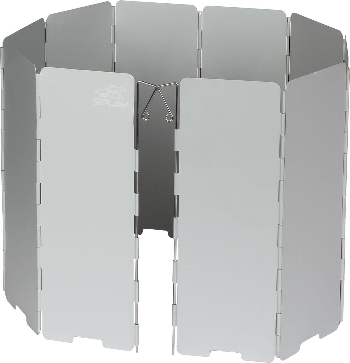 Ветрозащитный экран Сплав24492Компактный защитный экран от ветра Сохраняет тепло пламени Способствует экономии топлива Ускоряет время приготовления пищи 10 секций 845 х 240 мм Вес с чехлом: 291 г Вес без чехла: 260 г