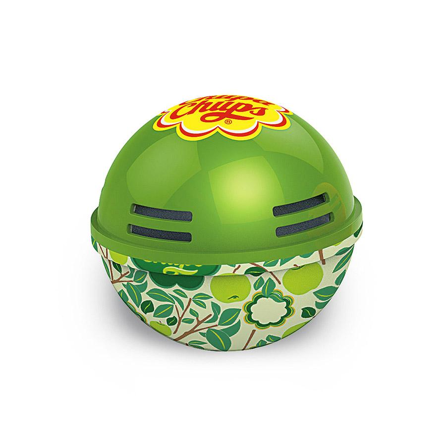 Ароматизатор воздуха Chupa Chups Яблоко, на панель приборов, гелевый, 100 мл4627087520571Круглый гелевый ароматизатор на панель приборов в виде огромного леденца Chupa Chups с ароматом яблока. Обеспечивает приятный запах до 45 дней. Легко размещается в салоне автомобиля, а оригинальный необычный дизайн ароматизатора еще и украшает салон.