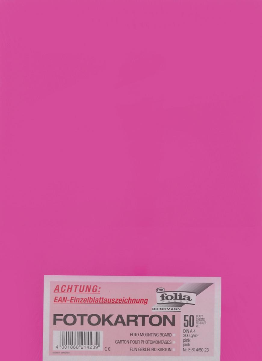 Фотокартон Folia, цвет: розовый, 21 х 30 см, 50 листов72523WDФотокартон Folia - это цветная плотная бумага. Используется для изготовления открыток, пригласительных, для скрапбукинга, для изготовления паспарту и других декоративных или дизайнерских работ.