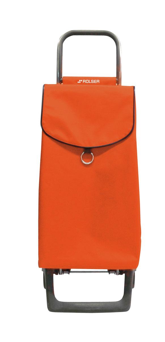 Сумка хозяйственная Rolser, на колесиках, цвет: mandarina, 39 лUP210DFАлюминиевая тележка для покупок с 2 колесами, диаметр колес 13,2 см, колеса резина EVA. Эргономичная ручка, складываемая передняя подставка. Сумка имеет форму рюкзака, объем 39 л, ткань полиэстер, влагоустойчивая, имеет удобное закрытие сумки и легко крепится на раме. Тележка не складывается. Рекомендованная нагрузка 25 кг, чистка ручная или химчистка.