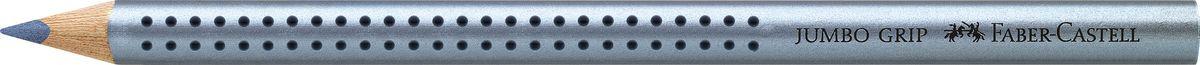 Faber-Castell Карандаш цветной Jumbo Grip цвет синий металлик610842Faber-Castell Jumbo Grip - цветной карандаш эргономичной трехгранной формы с утолщенным корпусом. Запатентованная Grip антискользящая зона захвата с малыми массажными шашечками. Мягкий грифель идеален для рисования и тренировки письма. Специальная технология вклеивания (SV) предотвращает поломку грифеля.Корпус покрыт лаком на водной основе - бережным по отношению к окружающей среде и здоровью детей.Качественная древесина - гарантия легкого затачивания при помощи стандартных точилок. Грифель размывается водой. Отстирывается с большинства обычных тканей.