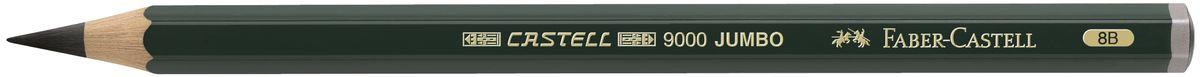 Faber-Castell Карандаш чернографитовый Castell 9000 Jumbo 119308SMA510-V8-ETЧернографитовый карандаш Faber-Castell Castell 9000 Jumbo предназначен не только для письма, но и для эскизов и рисования.Специальная SV технология вклеивания грифеля предотвращает его поломку при падении, а высокое качество мягкой древесины обеспечивает легкое затачивание.Такой карандаш с чистым графитом не царапает бумагу, ровно и гладко ложится, хорошо штрихует, передавая воздушность и светотени.