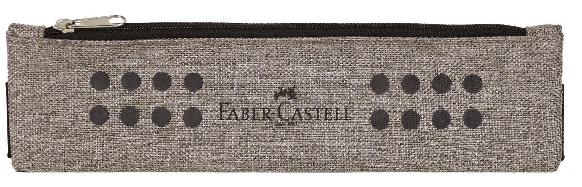 Faber-Castell Школьный пенал Grip в целофане серый72523WDПенал-косметичка Faber-Castell Grip на молнии не позволит потеряться ручкам и карандашам. Благодаря специальному креплению, он может крепиться к учебникам и тетрадям формата А5, А4. Размер: 21 х 6 см