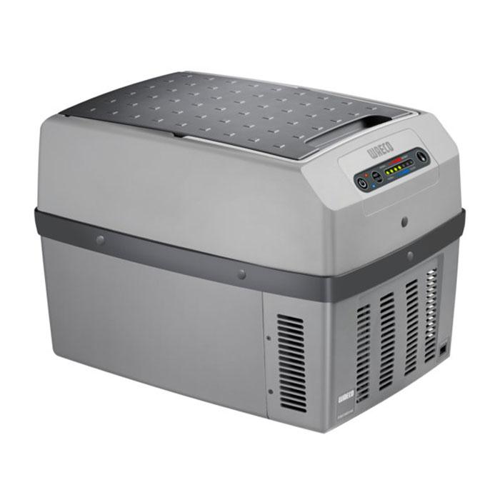 Waeco TropiCool TCX-14 автохолодильник 14 лTF-14AU-12Waeco 14-TCX TropiCool - это небольшой мобильный холодильник с термоэлектрической системой, разработанныйспециально для легковых автомобилей. Камера модели имеет вместительность 14 литров, и может сохранятьхолодными не только продукты, но и напитки. В качестве источника питания агрегат способен использовать сеть сразными напряжениями: 12/24/230 В.Термоэлектрические холодильники Waeco не используют для работы фреон, а значит не оказывают негативноговоздействия на окружающую среду, поскольку их принцип работы совершенно не похож на принцип работыпривычных ботовых холодильных приборов. Также стоит отметить, что агрегаты отличаются большим ресурсомработы и неприхотливы в эксплуатационных условиях.7-ступенчатая регулировка охлаждения и нагрева Полезный объем: 13,5 л Отображение температуры на дисплее Функция запоминания последних настроекКласс потребления энергии: A++ Интеллектуальная цепь экономии энергии Динамическая вентиляция внутреннего отсека Износоустойчивые вентиляторы Нагрев до +65°C Охлаждение до температуры на 30°C ниже температуры окружающего воздуха