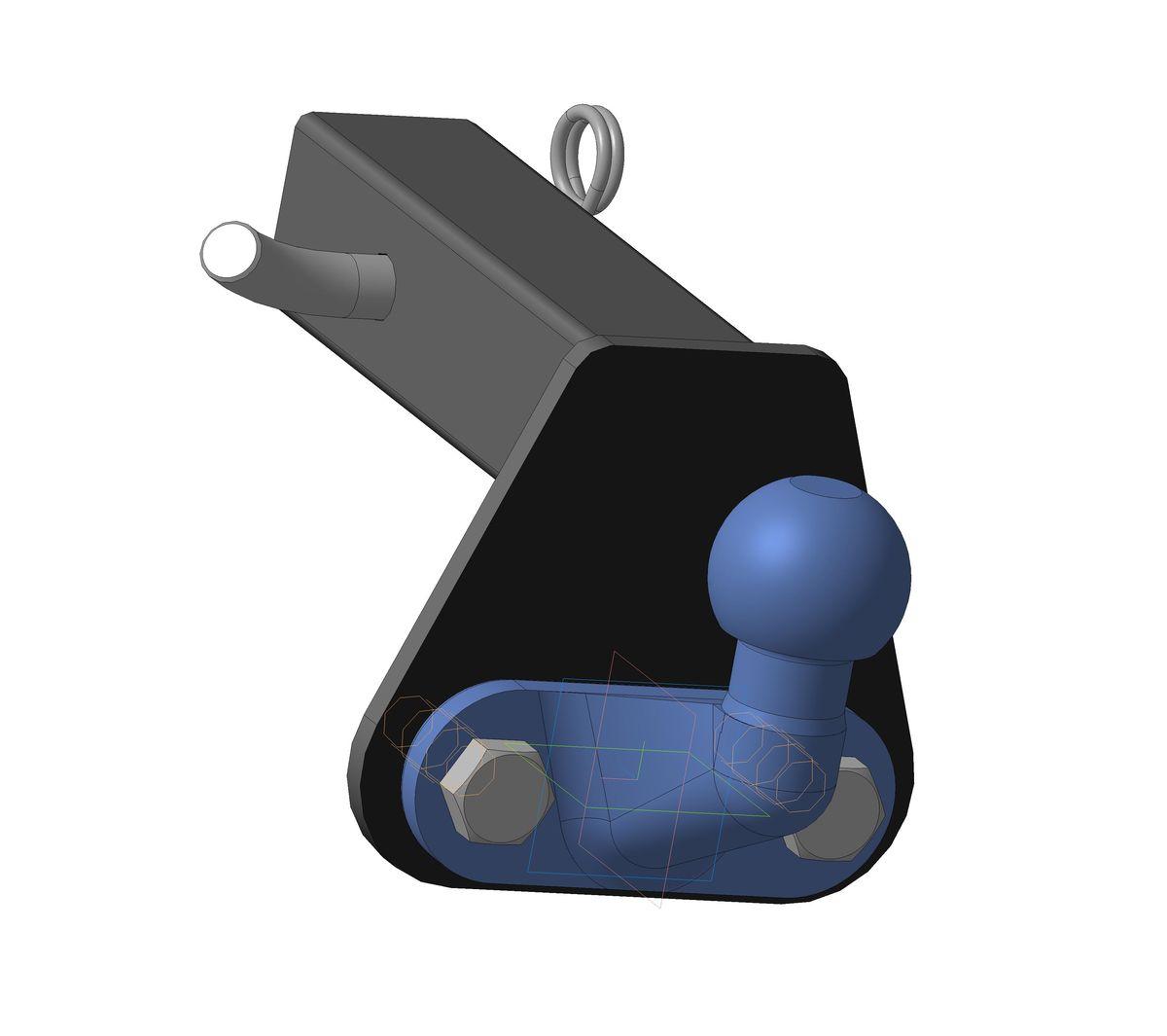 Шаровый узел Bosal на американские автомобили (под квадратное отверстие на 50 в корпусе ТСУ) на базе шара F, грузоподъемностью 2000 кг, 7801-FALLDRIVE 501Тип шара F – съемный, кованый шар с 2 отверстиями, грузоподъемность 3500 кг
