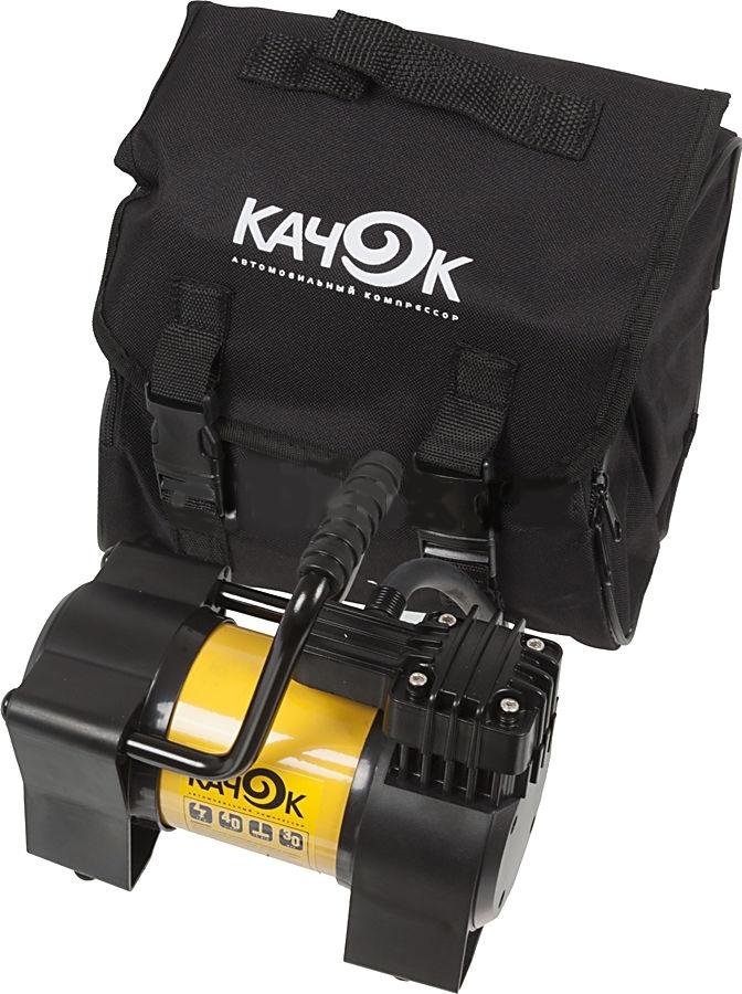 Автомобильный компрессор Качок К90NAL-300ZАвтомобильный компрессор КАЧОК К90N обеспечивает прокачивание 40 л воздуха за минуту при максимальном давлении 10 атмосфер. Помимо своей первоочередной задачи обслуживания автомобиля, данное устройство способно принести очевидную пользу на даче, рыбалке и во время домашнего ремонта. КАЧОК К90N не только поможет накачать матрац, бассейн или футбольный мяч, но и обеспечит полив приусадебного участка пи помощи специальной насадки, а подключение различных инструментов превратит компрессор в пневмоножницы, шуруповерт либо пневмопилу.