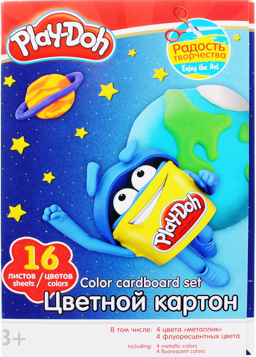 Play-Doh Цветной картон 16 листов7708057_84EНабор цветного картона Play-Doh формата А4 идеально подходит для детского творчества: создания аппликаций, оригами и многого другого. В упаковке 16 листов картона 16 цветов: золотистый, серебристый, желтый, красный, пурпурный, зелёный, голубой, фиолетовый, коричневый, черный, розовый металл, голубой металл, лимонный флюор, салатовый флюор, оранжевый флюор, розовый флюор. На обороте набора расположена игра на внимание Найди силуэт Додошки.Детские аппликации из цветной бумаги - отличное занятие для развития творческих способностей ипознавательной деятельности малыша, а также хороший способ самовыражения ребенка. Рекомендуемый возраст: от 3 лет.