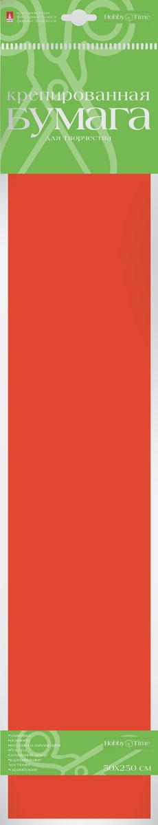 Альт Бумага креповая Флюоресцентная цвет оранжевый72523WDКреповая бумага Альт Флюоресцентная - подходящий материал для декора, объемных украшений и игрушек. Гофрированная жатая поверхность обеспечивает особую пластичность. Бумага не деформируется, сохраняет заданную форму, отлично сочетается с текстильными лентами, декоративными элементами. Необычный флуоресцентный эффект создает легкое сияние, которое поможет создать атмосферу праздника. Размер листа: 50 см х 250 см.