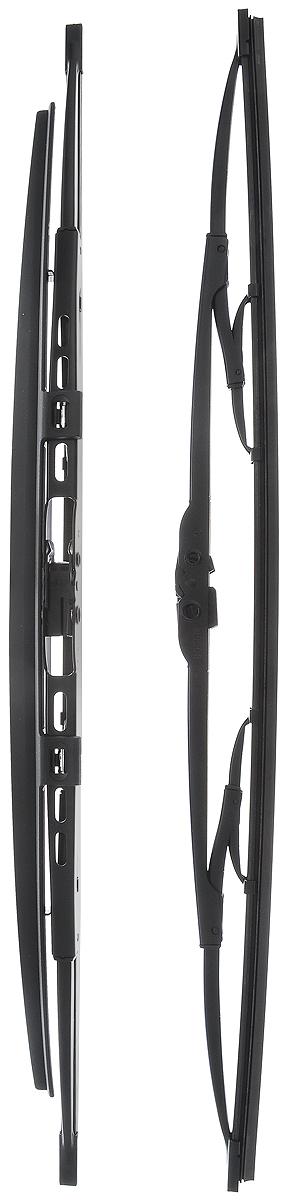 Щетка стеклоочистителя Bosch 530S, каркасная, со спойлером, длина 53 см, 2 шт10503Щетка Bosch 530S, выполненная по современной технологии извысококачественныхматериалов, оптимально подходит для заменыоригинальных щеток, установленных на конвейере. Обеспечивает идеальнуюочистку стекла в любую погоду. TWIN Spoiler - серия классических каркасных щеток со спойлером. Эти щеткиимеют полностью металлический каркас с двойной защитой от коррозии исверхточный профиль резинового элемента с двумя чистящими кромками.Спойлер, выполненный в виде крыла, закрывает каркас щетки отвоздушного потока. Комплектация: 2 шт.