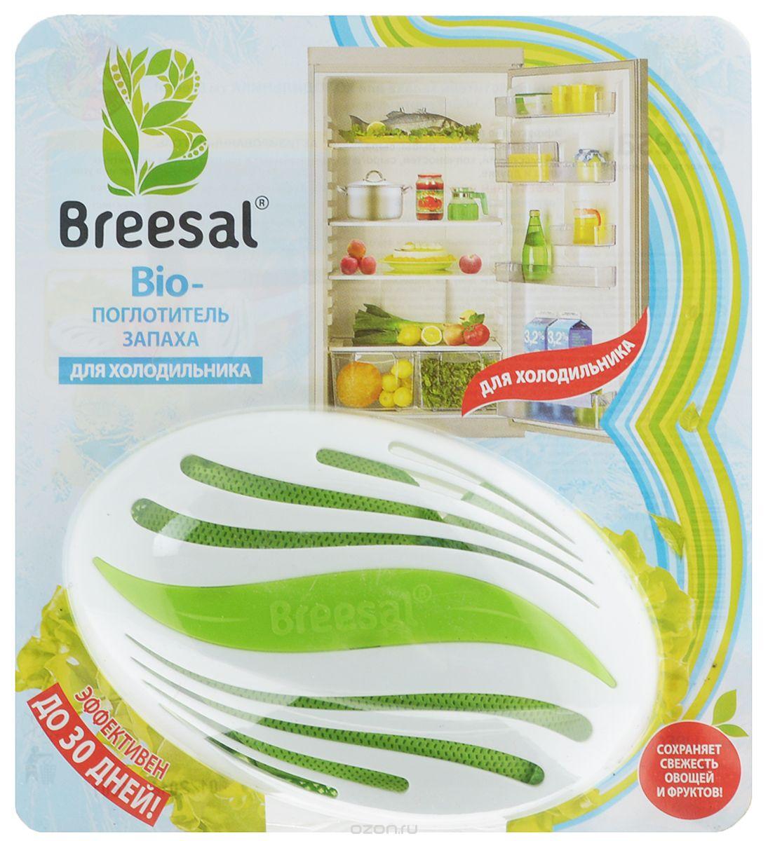 Био-поглотитель запаха для холодильника Breesal, 80 гVT-1520(SR)Био-поглотитель запаха для холодильника Breesal на основе особого сорта угляэффективно поглощает все виды неприятных запахов: рыбы,сыра, лука, солений, копченостей, сырого мяса и другие. Эффективен до 30 дней. Сохраняетсвежесть овощей и фруктов за счет абсорбции влагии этилена.Поглотитель запаха изготовлен на основе активированного угля, который поглощает в 3 разабольше неприятных запахов и влаги, в отличие отдревесного, сохраняет идеальную свежесть продуктов, абсолютно безопасен и экологическичист.Прибор удобен в использовании. Для размещения в холодильнике можно использоватьклипсу или двухсторонний скотч. Корпус выполнен изпластика.Состав: активированный уголь.Размер поглотителя: 12,5 см х 8 см х 5 см.