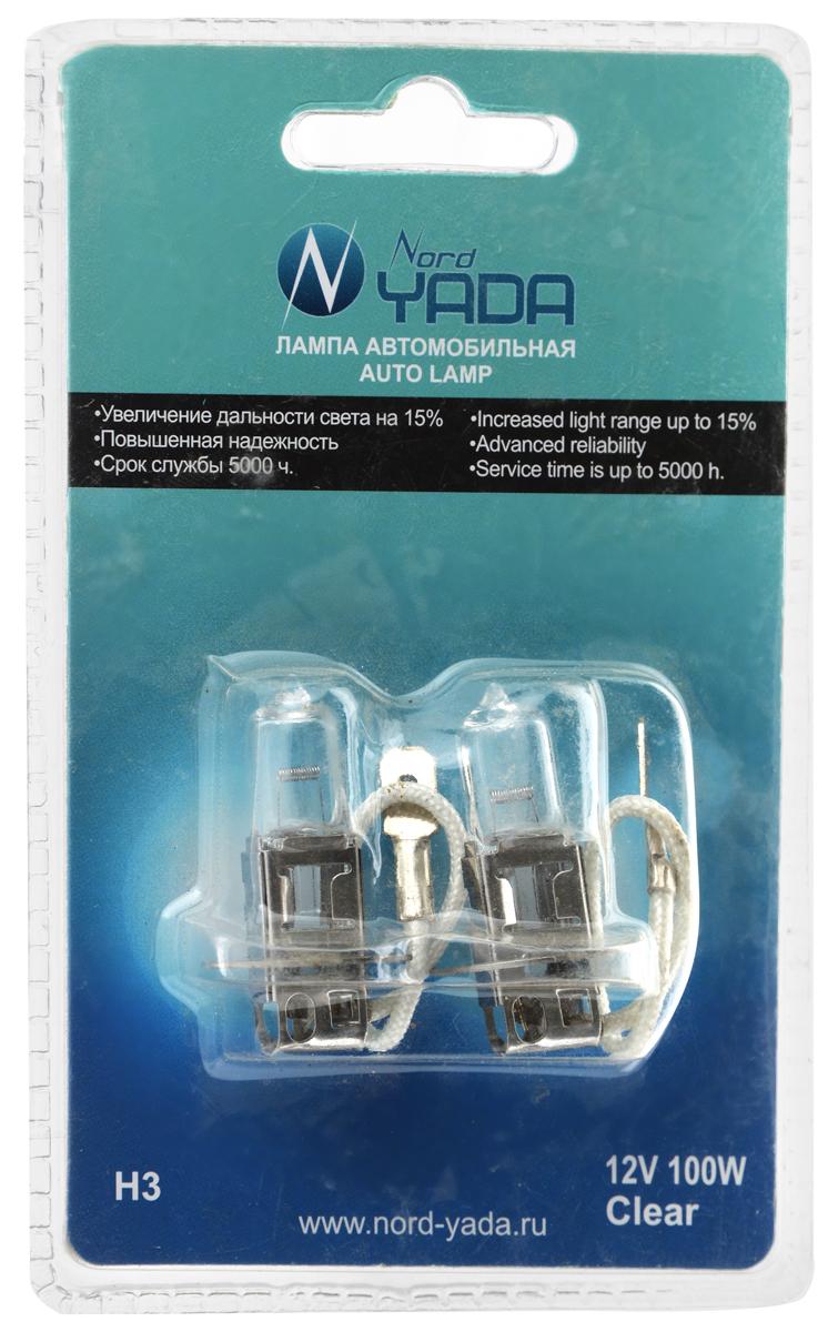Лампа автомобильная галогенная Nord Yada Clear, цоколь H4, 12V, 100W, 2 шт. 90212410498Автомобильные галогенные лампы Nord Yada Clear - источники света, укоторых светящим элементом является вольфрамоваяспираль. У ламп есть большой запас срока службы.Способны выдержать большое количество включений ивыключений.Питание: 12 В. Номинальная мощность: 100 Вт. В комплекте 2 лампы.