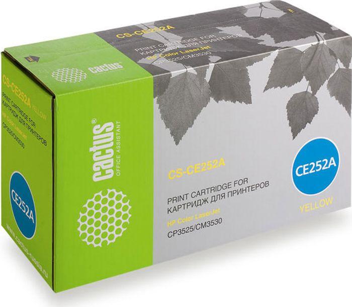 Cactus CS-CE252A, Yellow тонер-картридж для HP CLJ CP3525/CM3530CS-CB318/319/320Тонер-картридж Cactus CS-CE252A для лазерных принтеров HP CLJ CP3525/CM3530. Расходные материалы Cactus для лазерной печати максимизируют характеристики принтера. Обеспечивают повышенную чёткость чёрного текста и плавность переходов оттенков серого цвета и полутонов, позволяют отображать мельчайшие детали изображения. Гарантируют надежное качество печати.