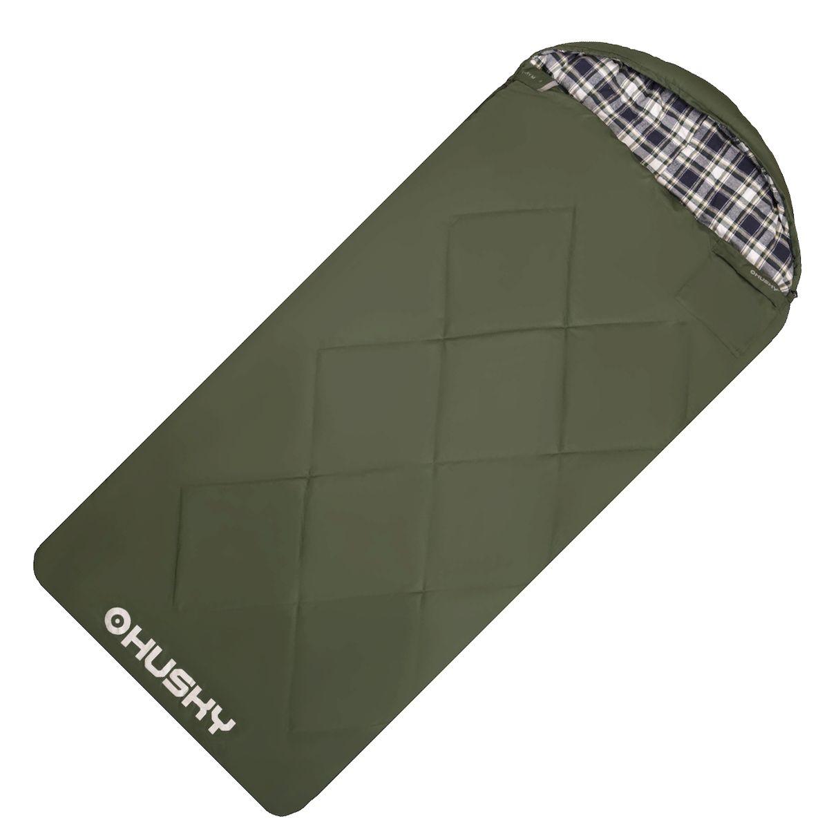 Спальник - одеяло Husky GARY -5С, правая молния, цвет: зеленыйATC-F-01Спальник-одеяло с подголовником до -5°C (НОВИНКА) GARY Двухслойный спальный мешок-одеяло для кемпинга. Утеплитель из 4-х канального холофайбера, превосходная комбинация теплового комфорта с комфортом традиционного спального мешка-одеяла. Gary можно использовать не только на природе, но и в помещении как традиционное одеяло. Размеры: 90х220 см Размеры в сложенном виде: 45х37х20 см Вес: 2850 г Экстремальная температура: -5 С Комфортная температура: -0 С ... +5 С - Внешний материал: Pongee 75D 210T (лен) - Внутренний материал: флис (полиэстер) - Утеплитель: 2 слоя 150 г/м2 HollowFibre, - Конструкция: два слоя - Компрессионный мешок - Петли для сушки
