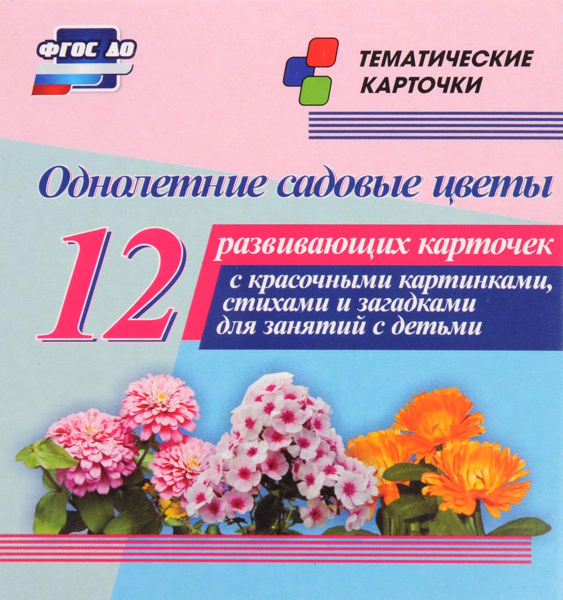 Однолетние садовые цветы (12 развивающих карточек)