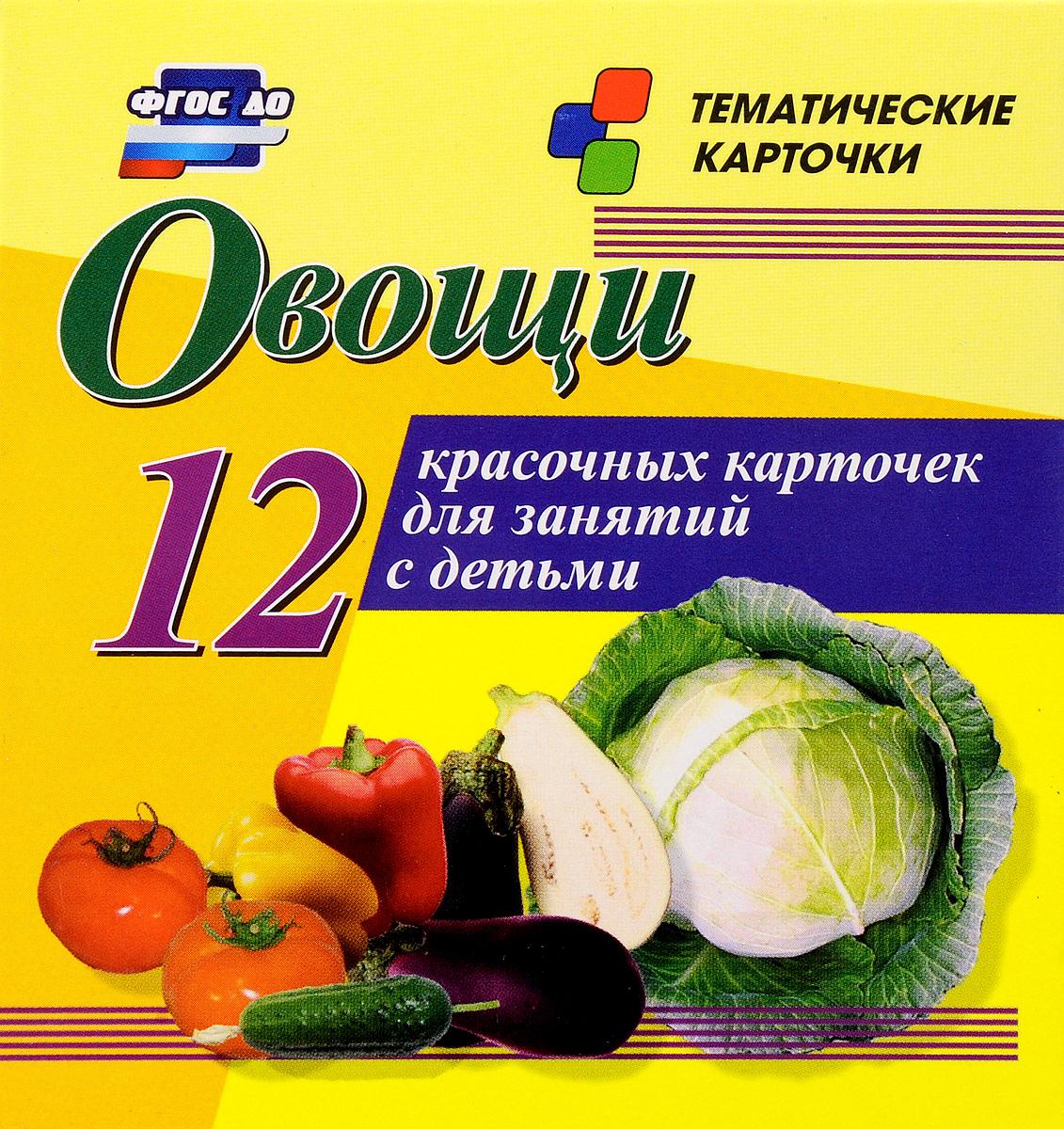 Овощи (12 красочных карточек)