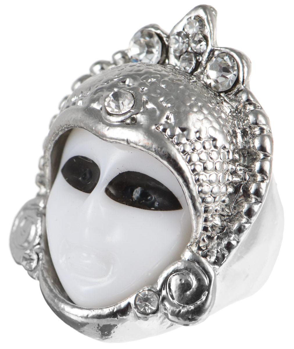 Кольцо YusliQ. Ручная авторская работа. 26-020Коктейльное кольцоАвторское кольцо ручной работы YusliQ выполнено из металла в виде маски иоформлено стразами. Такое кольцо это блестящее завершение вашегонеповторимого и смелого образа и отличный подарок для ценительницынеобычных украшений!