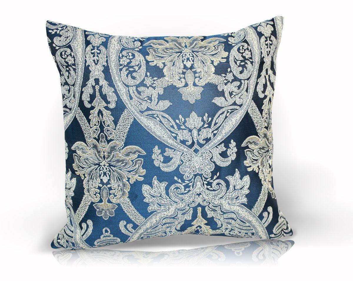 Подушка декоративная KauffOrt Мауритани, цвет: синий, 40x40 смUP210DFДекоративная подушка KauffOrt Мауритани прекрасно дополнит интерьер спальни или гостиной. Мягкий на ощупь чехол подушки выполнен из 100% полиэстера. Внутри находится мягкий наполнитель, выполненный из холлофайбера. Чехол легко снимается благодаря молнии. Красивая подушка создаст атмосферу уюта и комфорта в спальне и станет прекрасным элементом декора.
