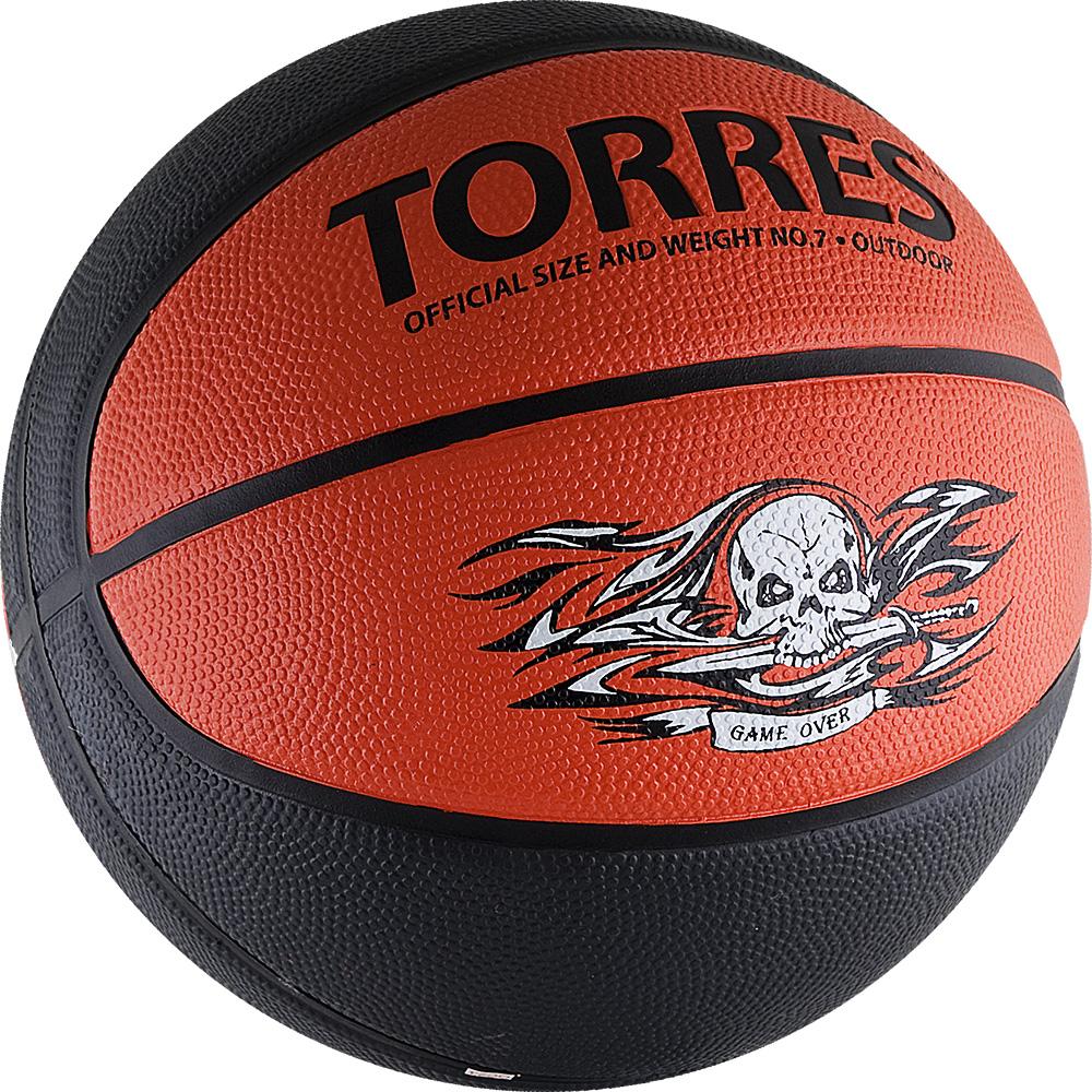 Мяч баскетбольный Torres Game Over, цвет: серый, красный. Размер 7120330_black/whiteМяч баскетбольный Torres Game Over отлично подойдет для любительских игр в зале и на улице. Преимущества: - мяч изготовлен благодаря новейшим технологиям и с учетом особенностей кисти, что позволяет добиваться высоких результатов,- покрытие из синтетической кожи хорошо впитывает влагу с ладоней, что способствует хорошему контролю мяча, - глубокие каналы помогают четко ощущать поверхность мяча.