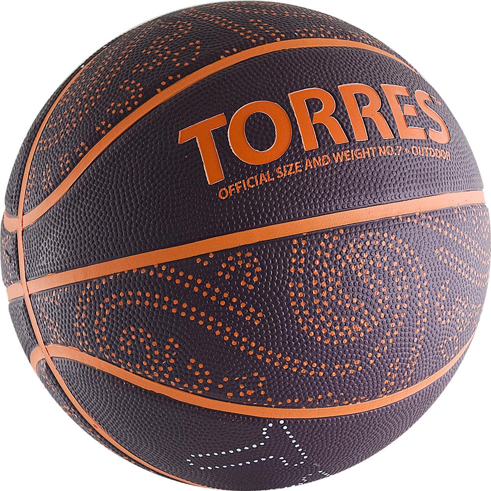 Мяч баскетбольный Torres TT, цвет: бордовый, оранжевый. Размер 7120330_black/whiteБаскетбольный мяч TT подходит для любительских игр в зале и на улице. Название TT, как аббревиатура слова tattoo, ведь дизайн мяча создан с элементами татуировок древних индейцев.Поверхность из износостойкой резины с глубокими каналами позволяет использовать мяч для игры на любых типах поверхностей. Камера изготовлена из бутила, корд из нейлона.