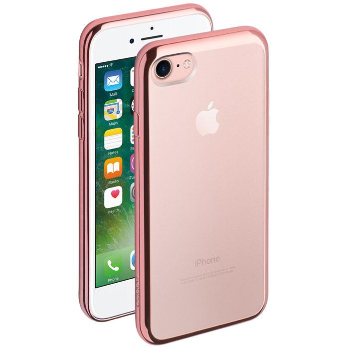 Deppa Gel Plus Case чехол для Apple iPhone 7, Pink Gold2000000096216Чехол Deppa Gel Plus Case из TPU производства Bayer предназначен для защиты корпуса смартфона от механических повреждений и царапин в процессе эксплуатации. Имеется свободный доступ ко всем разъемам и кнопкам устройства.Толщина: 0.9 мм