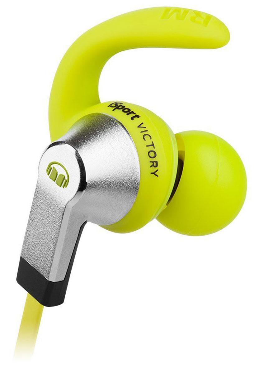 Monster iSport Victory, Green наушники4160596Monster iSport Victory - самая старшая модель в проводной серии iSport. Если музыка-это то, что движет вами, то iSport Victory - это пусковой механизм. Вы надеваете их, и ваши любимые треки превращаются в чистый аудио-адреналин. Звук мощный, четкий и полный деталей, а вы в эпицентре источника этого звука!Чистый звук с технологией Pure Monster Sound и превосходная звукоизоляция позволяют сосредоточиться на самых интенсивных тренировках и экстремальных видах спорта с полным погружением в мир своей любимой музыки.Monster выпускает лучшие высокопроизводительные спортивные наушники: надёжные, водостойкие и моющиеся. Насадки Pro Sound-Isolating обеспечивают герметичную защиту от влаги и способствуют глубокому, пульсирующему звуку.Безопасные и удобные iSport Victory отлично зафиксированы в ушах и не будут мешать очкам, маске или шлему. Продвинутая конструкция динамика с технологией OmniTip: поворотная насадка OmniTip обеспечит глубокую посадку наушника, подстраиваясь под ваше строение уха и обеспечивая максимальный комфорт и звукоизоляцию, а запатентованное крепление SportClip надежно закрепит наушник в удобном положении Особый герметичный корпус: пляж. Горы. Берите ваши наушники Monster iSport Victory куда угодно. Их можно мыть! Применение передовых технологий в аудио-кабелях: технология лучших аудио-кабелей Monster теперь и в крутых спортивных наушниках. Услышьте в любимой музыке все важные детали! Контакты с золотым покрытием 24К: красивое антикоррозионное покрытие для лучшего контакта и исключительного звукового сигнала Удобный угловой штекер и плоский кабель, стойкий к спутыванию Защитный чехол на застёжке Звукоизоляция Pro-Sound Насадки разных форм и размеров для идеальной посадки и блокировки шума, чтобы вы всегда могли сосредоточиться на победе Антибактериальное покрытие Микрофон и управление вызовами, музыкой и громкостью ControlTalk на кабеле: Monster iSport Victory позволяет управлять вашим смартфоном или планшетом с 