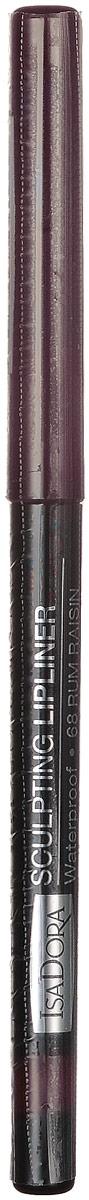 Isadora карандаш для губ водостойкий Sculpting lipliner waterproof 68 3 гр1301207Cкульптурирует губы и придает им визуальный объем, предотвращает размазывание помады и делает макияж губ более стойким.