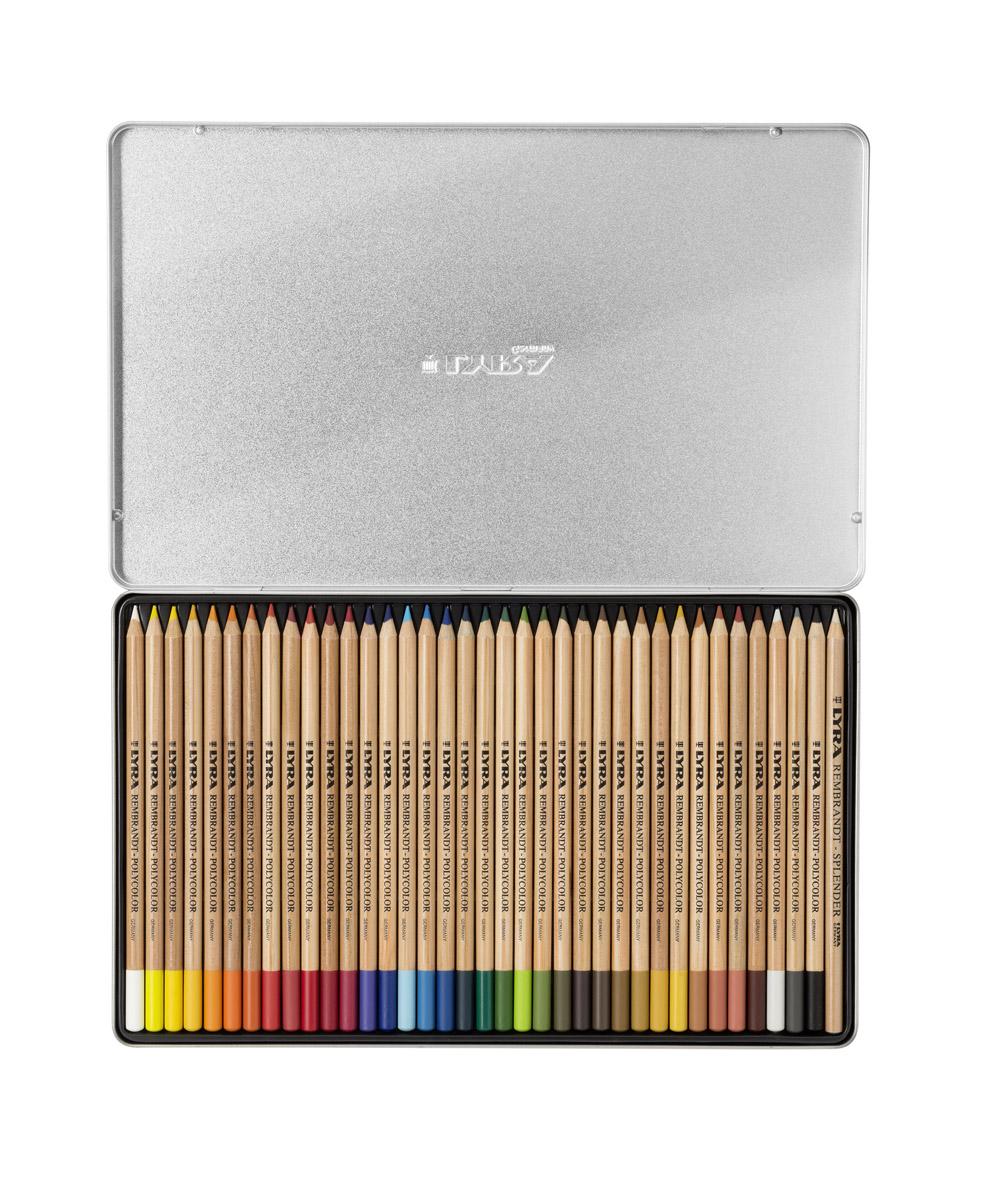 Lyra Художественные цветные карандаши Rembrandt Polycolor 36 цветов72523WDНабор цветных художественных карандашей Lyra REMBRANDT POLYCOLOR 36 цветов, в металлической коробке