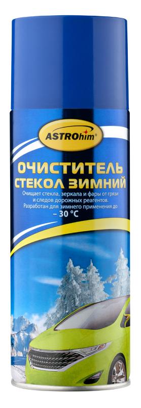 Очиститель стекол ASTROhim, зимний, 520 мл1004900000360Зимний очиститель стекол ASTROhim разработан специально для применения при низких температурах (до -30°С). Идеально очищает стекла, зеркала и фары от грязи, пленки от выхлопных газов и следов дорожных реагентов. Удаляет загрязнения, покрытые изморозью или тонкой ледяной коркой.Действует мгновенно, придавая стеклам блеск без разводов и максимальную прозрачность. Улучшает обзорность и повышает безопасность движения.Безвреден для лакокрасочного покрытия, хромированных, пластиковых и резиновых поверхностей.Товар сертифицирован.